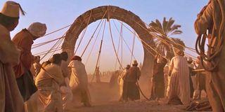 The Stargate in the desert in 1994 Roland Emmerich movie
