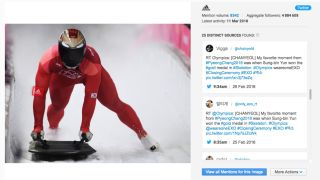 Adidas Twitter post of a winter Olympics athlete