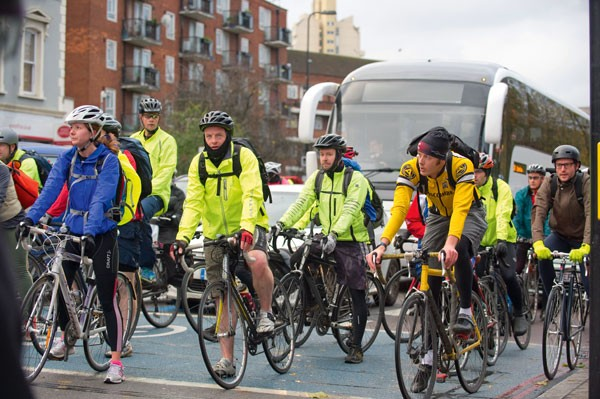 Commuters, cycle superhighway 2