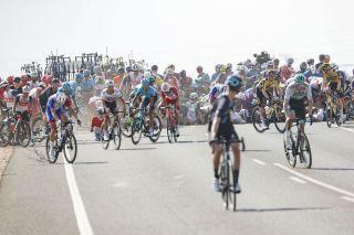 Vuelta Espana 2021 - 76th Edition - 5th stage Tarancon - Albacete 184,4 km - 18/08/2021 - Crash - photo Luis Angel Gomez/BettiniPhoto©2021