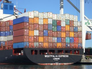 Shipping containers, the global financial crisis failed to put a permanent dent in global carbon dioxide emissions