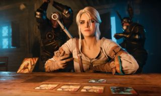 Ciri plays Gwent