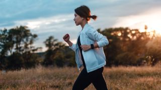 Is running good for weight loss? Image of woman running