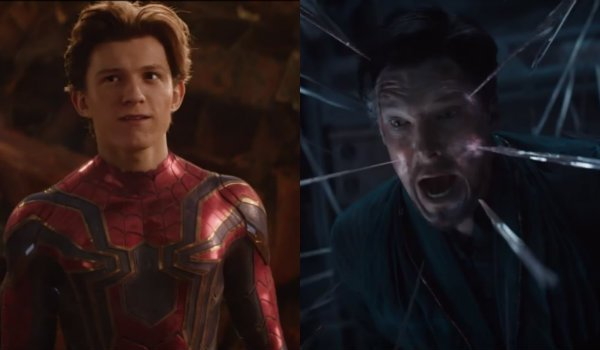 Avengers infinity war spiderman doctor strange
