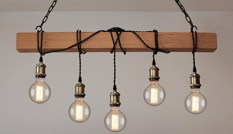 Amazon Handmade industrial exposed bulbs