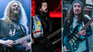 """(from left) Guthrie Govan, Ron """"Bumblefoot"""" Thal and Jack Gardiner"""