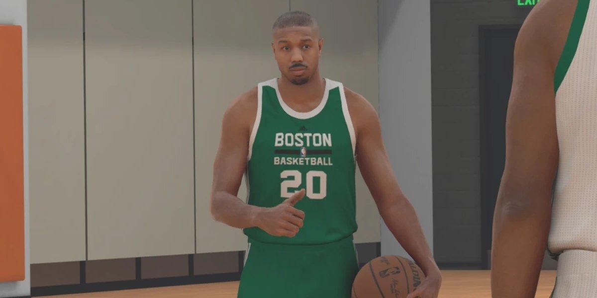 Michael B. Jordan in the video game NBA 2K17