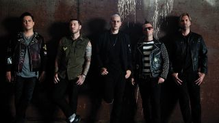 Avenged Sevenfold, L-R: Synyster Gates, Zacky Vengeance, M Shadows, Johnny Christ, Brooks Wackerman