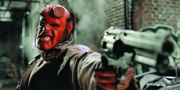 Hellboy holding gun