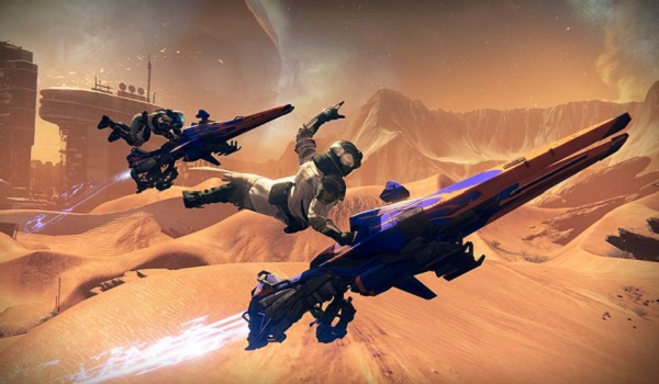 Guardians ride Sparrows in Destiny