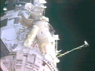 First Spacewalk a Success for Space Station Crew