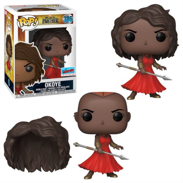 Okoye Funko Pop with removable wig