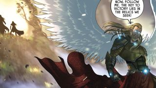 Noah's Ark is now God's armory in Knights of the Golden Sun #8 preview