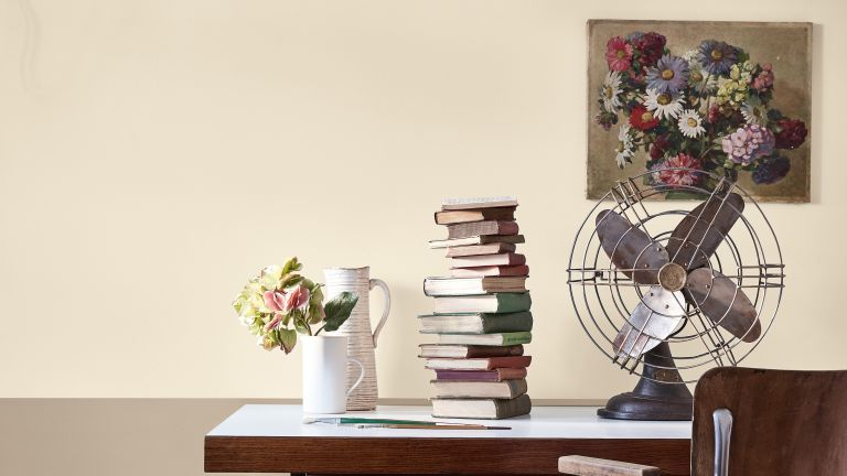 Neutral color scheme in a home office by Little Greene