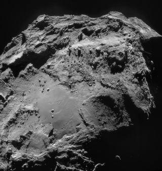 Comet 67P/C-G seen from Rosetta