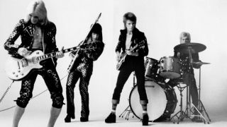 Spiders From Mars: Mick Ronson, Trevor Bolder, David Bowie and Woody Woodmansey in 1972