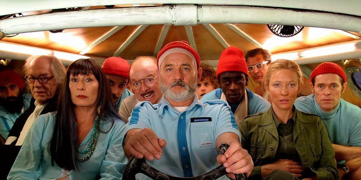 Anjelica Huston, Billy Murray, and Cate Blanchett in The Life Aquatic With Steve Zissou