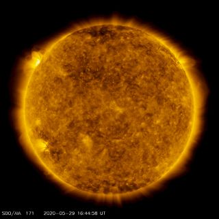 Our sun, imaged here in May 2020 by NASA's Solar Dynamics Observatory, is a medium-mass main sequence star.