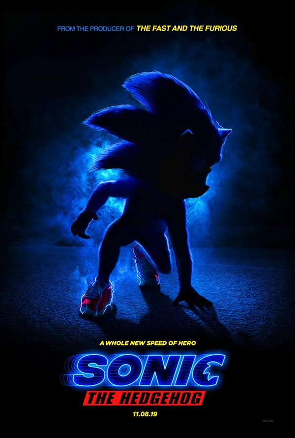 Sonic the Hedgehog poster from Paramount