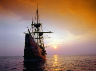 Mayflower ship replica.
