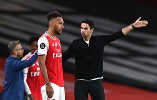 Arsenal boss Mikel Arteta has backed Pierre-Emerick Aubameyang to start scoring again soon.