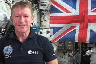 British Astronaut Tim Peake Says 'God Save the Queen'