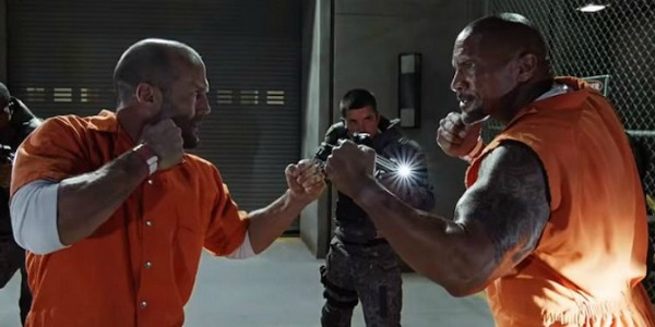 Jason Statham and The Rock in Fate Of The Furious
