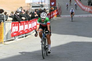 Elisa longo Borghini finished second at Strade Bianche