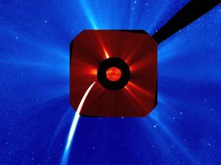 comet lovejoy composite sun photo