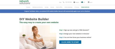 Network Solutions Website Builder Review Hero