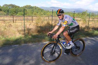 Sam Bennett pre-race training Tour de France