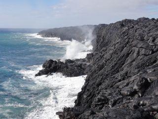 Kilauea lava meets the ocean