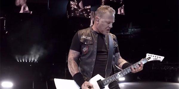 James Hetfield in ames Hetfield seek and destroy video