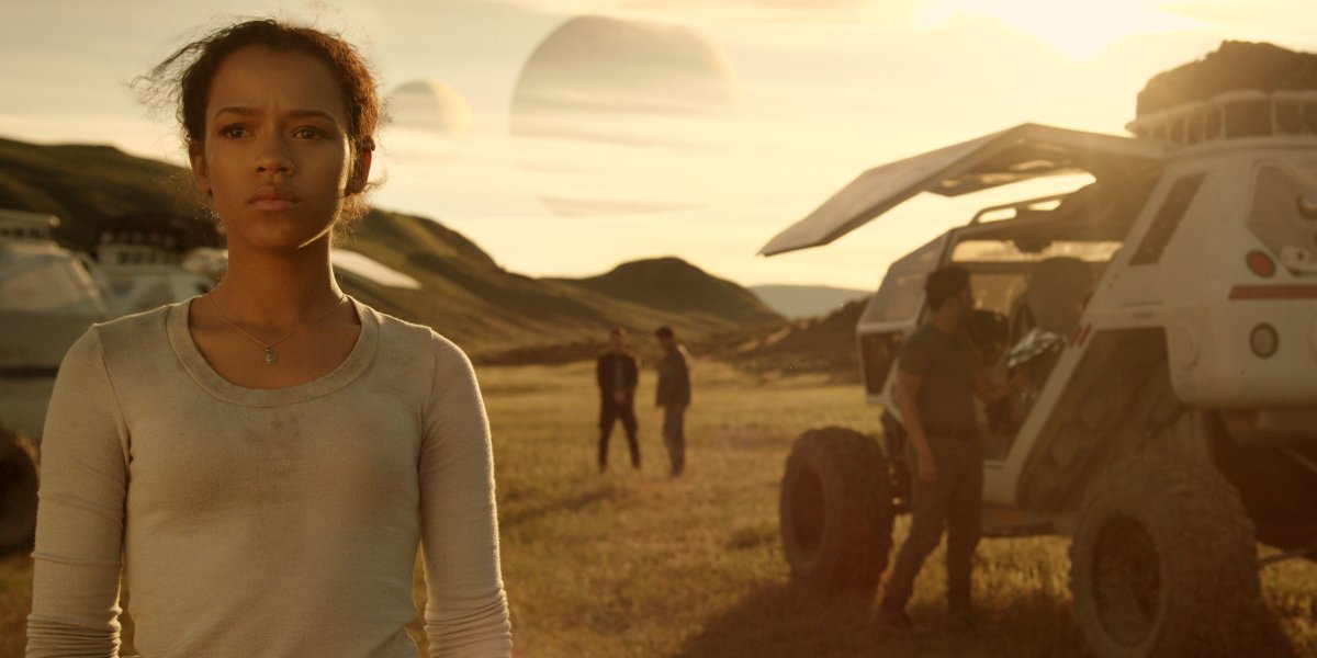 Taylor Russell on Lost in Space
