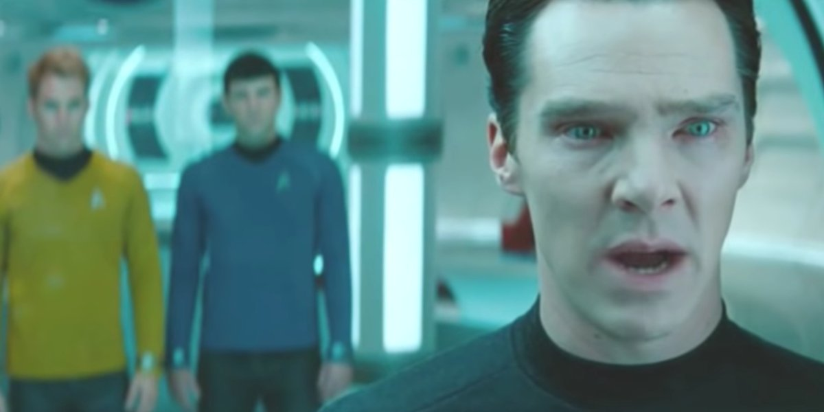 Benedict Cumberbatch laying it all out on the line in Star Trek Into Darkness