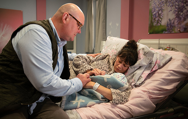 Emmerdale's Chas Dingle and Paddy Kirk (Dominic Brunt) actors on baby Grace's birth and death: 'The tears were all real'