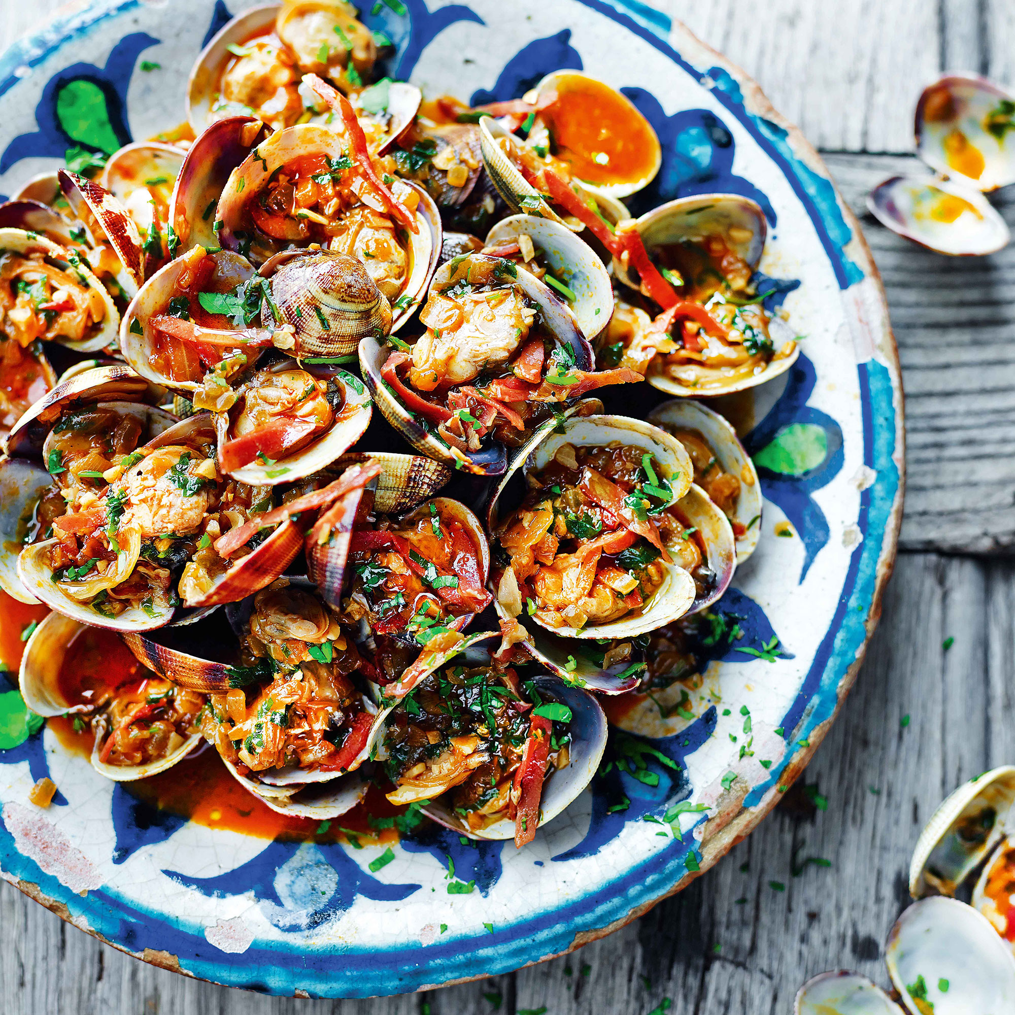 Omar Allibhoy's Clams with Sherry and Serrano Ham