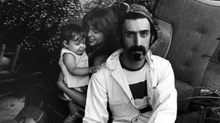 A photograph of Moon, Gail and Frank Zappa taken in 1968