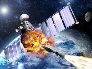 satellite hit by rocket