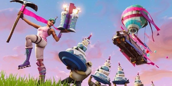 Fortnite first birthday celebration