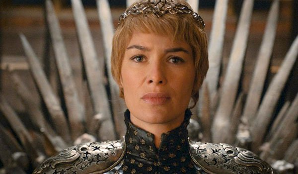 Cersei Lannister sits on the Iron Throne, Game of Thrones