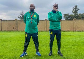 Mamelodi Sundowns coaches Manqoba Mngqithi and Rhulani Mokwena