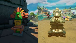 Fortnite artifacts from Stealthy Stronghold and Coral Castle