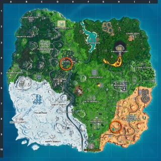 Fortnite Memorial to a Cube in the desert and by a lake locations: Where to visit the Kevin tributes