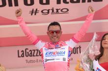 Joaquim Rodriguez (Katusha Team) in pink