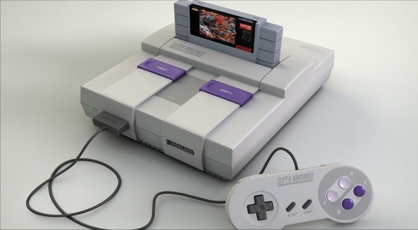 Super Nintendo with Street Fighter II