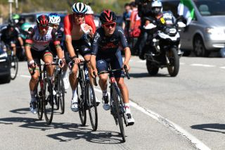 PICO VILLUERCAS SPAIN AUGUST 28 Thomas Pidcock of United Kingdom and Team INEOS Grenadiers competes in the breakaway during the 76th Tour of Spain 2021 Stage 14 a 1657km stage from Don Benito to Pico Villuercas 1580m lavuelta LaVuelta21 on August 28 2021 in Pico Villuercas Spain Photo by Tim de WaeleGetty Images