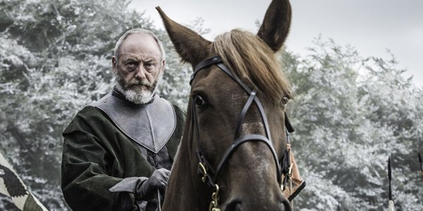 Liam Cunningham as Ser Davos on Game of Thrones