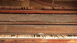 Old damaged piano