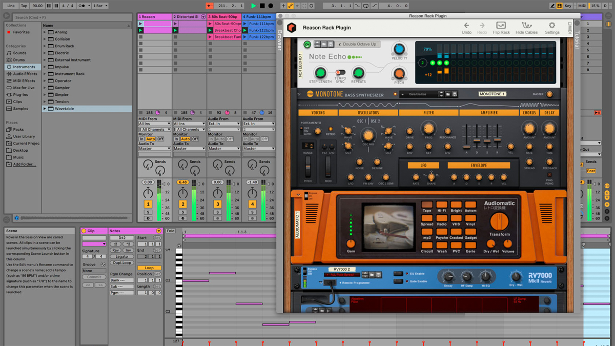 Reason 11 arrives with a VST/AU plugin for other DAWs, as